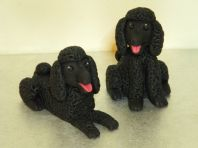 2 Poodle Dog Cake Toppers